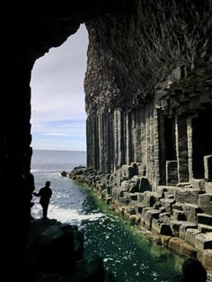 Fingal's Cave on the Isle of Staffa Off the West Coast of MullBy Jim Richardson Oh The Places You'll Go, Places To Visit, Wonderful Places, Beautiful Places, Fingal's Cave, England And Scotland, West Coast Scotland, To Infinity And Beyond, Scotland Travel