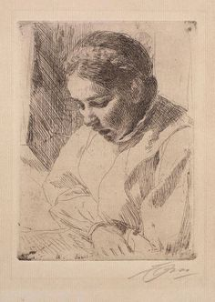 Anders Zorn - (1860-1920).Etchings & Drypoints.  Source: Fabian Risso
