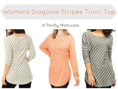 womens-diagonal-stripes-tunic-top