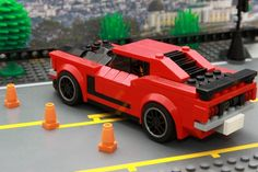 1969 Ford Mustang BOSS 302: A LEGO® creation by marcel urbanija : MOCpages.com Lego Car, Lego Speed Champions, Amazing Lego Creations, Ford Mustang Boss, Lego Vehicles, Lego Group, Brick Block, Lego Models, Toys Shop