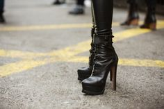 just plain sexy. Shoe Stalking! NYFW Blizzard Edition