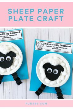 Remind your students that the Lord loves them and will always take good care of them with this Sheep Paper Plate Craft It is the perfect craft for your Sunday school lesson on Psalm 23 Toddler Sunday School, Kids Sunday School Lessons, Sunday School Crafts For Kids, Bible School Crafts, Bible Crafts For Kids, Sunday School Activities, Preschool Crafts, Sunday School Classroom, Classroom Ideas