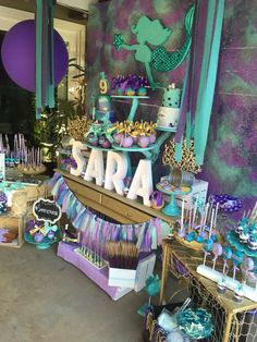 Mermaid Under the Sea Birthday Party Ideas | Photo 1 of 29