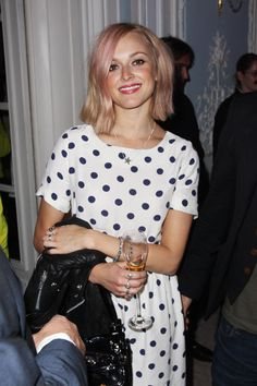 Fearne Cotton light pink hair