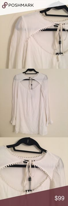 For Love and Lemons Josephina Swing Dress NWT For Love and Lemons white Josephina swing dress.  Size small. New with tags. For Love and Lemons Dresses Long Sleeve