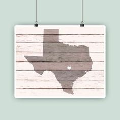 Texas art Personalized Texas map State map print by PrintCorner