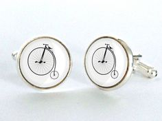 Hey, I found this really awesome Etsy listing at https://www.etsy.com/listing/188075247/vintage-penny-farthing-cufflinks-silver