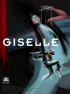 Giselle artwork by Roger O'Reilly. Created for Pointe Blank 4, a project run by Birmingham Royal Ballet and Illustrators Ireland.
