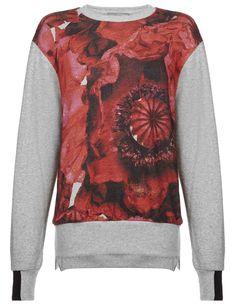 Poppy Print Cotton Scout Sweater | Preen by Thornton Bregazzi | Avenue32
