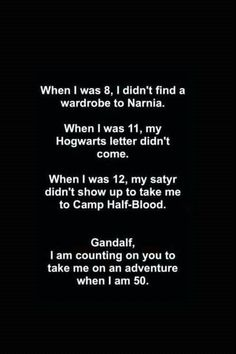 Chronicles of Narnia, Harry Potter, Percy Jackson, The Hobbit