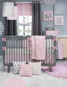 Clean and contemporary bedding with baby crib set