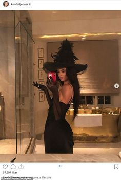 angel halloween costumes Witchin from Kardashian-Jenner Sisters Celebrate Halloween 2018 Halloween 2018, Mode Halloween, Looks Halloween, Hot Halloween Costumes, Trendy Halloween, Couple Halloween, Halloween Inspo, Diy Witch Costume, Party Costumes
