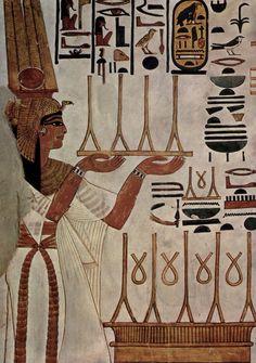 Pintura no túmulo de Nefertari.