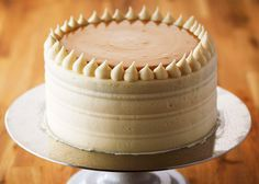 Get this quick and easy vanilla birthday cake recipe from Bake with Anna Olson. Easy Vanilla Birthday Cake Recipe, Sweets Cake, Cupcake Cakes, Food Network Recipes, Real Food Recipes, Cooking Cake, Just Cakes, Yummy Eats, Desert Recipes