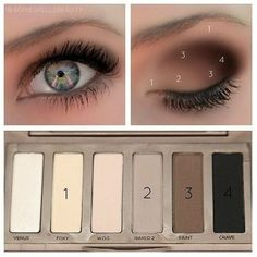 naked basics palette to bring out green eyes