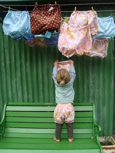 Baby bloomers, too cute! Little People, Little Ones, What A Nice Day, Kind Photo, Laundry Drying, Laundry Art, Laundry Room, Country Life, Country Living