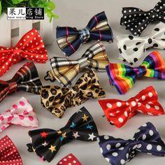 Crianças Moda Formal Algodão Bow Tie Kid Stripes Bowties clássico Colorful Butterfly Casamento Bowtie Pet Smoking Smoking