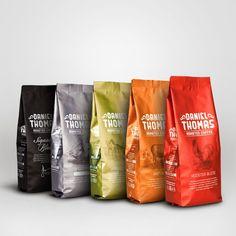 Packed Design - Embalagens com muito design.: Daniel Thomas Roasted Coffee
