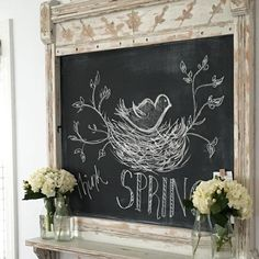 10 Beautiful chalkboard ideas for Easter and Spring. Inspiring farmhouse and cottage style chalkboard designs including free printables!