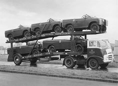 Land Rover Series II's ready for export.