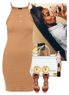"""""""Brown Barbie"""" by muvaaliyah ❤ liked on Polyvore featuring Mestige, Baci, Dolce&Gabbana, Tom Ford, Chanel and Forever 21"""
