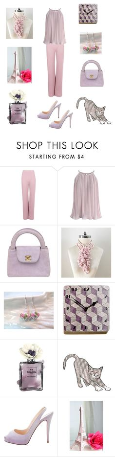 """""""Pink Mauve Party Wear"""" by einder ❤ liked on Polyvore featuring Boohoo, Chicwish, Chanel, Blanca, Del Gatto and Christian Louboutin"""