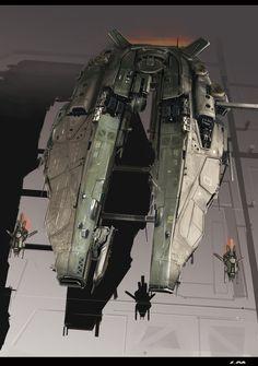 Spaceship, Futuristic Vehicle, Starship by ~Zhangx on deviantART [btip]