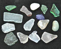 Tofino Beach Glass and Smooth stones. $6.00, via Etsy.