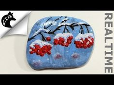 How To Paint A Sunset On A Rock Rock painting [Realtime] Steine bemalen - YouTube