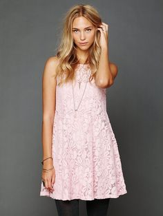 Free People Sleeveless Miles of Lace Dress, $128.00