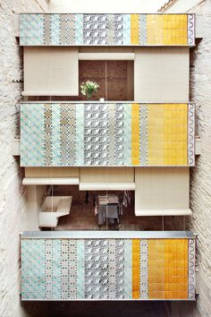 Since 1998 the Web Atlas of Contemporary Architecture Facade Architecture, Amazing Architecture, Contemporary Architecture, Building Exterior, Color Tile, Home Projects, Tiles, Collage, Wall Decor