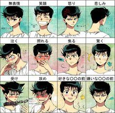 Tags: Anime, Surprised, Yu Yu Hakusho, Urameshi Yuusuke, Vein Pop, T-shirt, Expression Chart