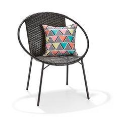 Luna Wicker Chair - Black