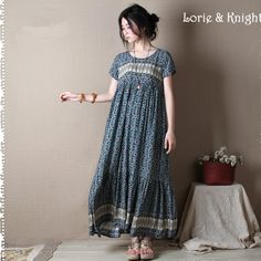 Japanese Mori Girl Vintage Floral Printing Loose Maxi Dress Boho Rural Style Beach Summer Dress Online Shopping at a cheapest price for Automotive, Phones & Accessories, Computers & Electronics, Fashion, Beauty & Health, Home & Garden, Toys & Sports, Weddings & Events and more; just about anything else
