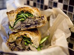 For me, the star among the vegetarian dishes at Xoco is the woodland mushroom torta ($9.50). From the crisp bread, to the juicy, garlicky mushrooms, to the creamy goat cheese, this sandwich is packed with big flavors and achieves a superb balance of textures.