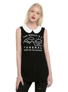 Bring Me The Horizon Funeral Collared Girls Tank Top,
