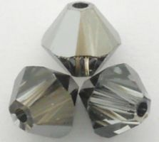 Swarovski Crystal Bicone Beads Crystal Silver Night - Similar to Stormy Weather Fall Color Trend
