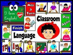 Classroom Language - Board Game