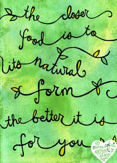 Freshened up my Natural doodle for spring! one simple rule for healthy eating :) Illustration © Aimee Myers Dolich. artsyville.etsy.com.