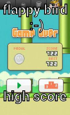 Flappy bird high score whoo