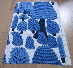 Marimekko Fabric Kristina Isola Metsanvaki Pattern 39 x 24 inches