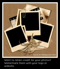 If brides find your images online, will they know where it came from? http://brideappeal.com/_blog/blog/post/photo-mojo-online-visual-marketing-for-bridal-businesses-2/
