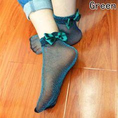 Spring Fashion, Kids Fashion, Cheap Socks, Mesh Socks, Cute Socks, Fashion Socks, Feminine Style, Feminine Fashion, Silk Ribbon