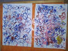 Mams De Deux Bambinos: Activité peinture en forme de cercle et coeur avec du papier toilette