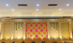 A Quintessential Arranged Marriage of Two Souls Who Were Meant-to-Be! Reception Stage Decor, Wedding Backdrop Design, Wedding Stage Design, Wedding Reception Backdrop, Wedding Mandap, Wedding Receptions, Wedding Table, Wedding Ideas, Marriage Hall Decoration