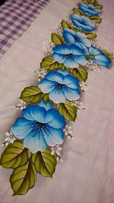 Satisfying gouache painting compilation video by Philip Boelter Saree Painting, Gouache Painting, Fabric Painting, Hand Painted Sarees, Hand Painted Fabric, Bed Sheet Painting Design, Fabric Paint Designs, Hand Embroidery Patterns, Flower Art