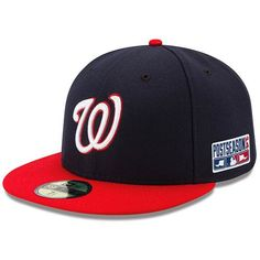 Washington Nationals New Era Youth Authentic Collection On-Field Alternate  Fitted Hat - Navy Red 3a51a10848b3