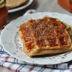 Diós-zabpelyhes, laktózmentes gofri - 25 perc alatt megvan! Healthy Dinner Recipes, Waffles, French Toast, Breakfast, Easy, Food, Dinner Ideas, Cooking, Morning Coffee
