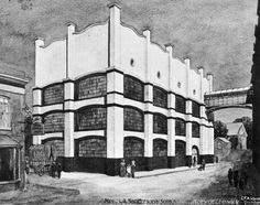SANDERSON & SONS FACTORY by C F A Voysey, Chiswick, London. 1902 For Sanderson & Sons wallpaper manufacturers. (The building has been converted into offices and called Voysey House)