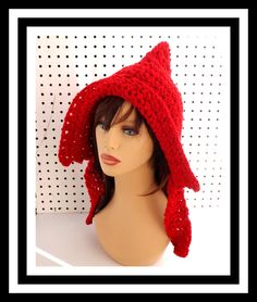Crochet Hat Womens Hat MAIDEN Crochet Hood Crochet Hoodie Red Hood Red Hat Ladies Winter Hat by strawberrycouture on Etsy 45.00 USD